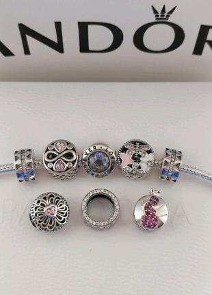 Шармы бусины для браслета пандора Pandora серебро s925