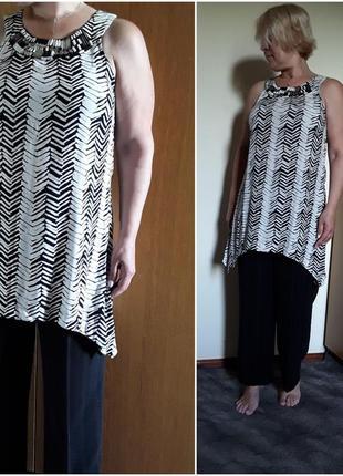 Блузка туника с декором