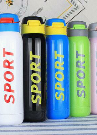 Бутылка термос для спорта Vacuum SPORT с трубочкой 500 мл