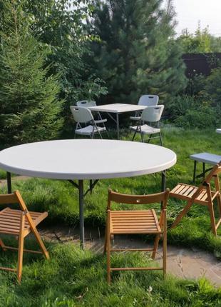 Аренда складных деревянных стульев для фестивалей, банкетов