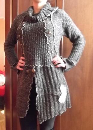 Платье -туника шерсть кашемир --derek heart--