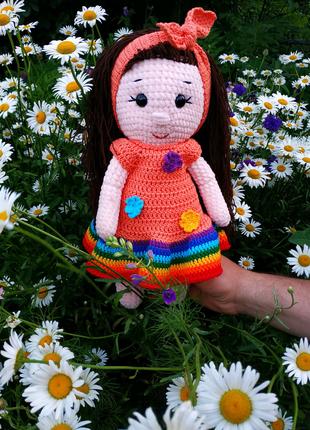 Вязаные игрушки, вязаная кукла
