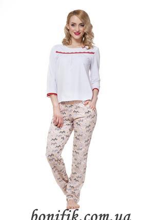 Белый женский комплект пижамы размер M, L, XL арт. LNP 197/001