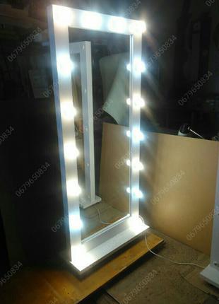 Зеркало напольное с подсветкой. Зеркало визажное. Новое.