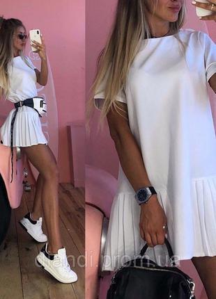 Стильное платье женское летнее белое,чёрное,красное