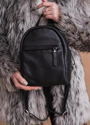 Кожаный небольшой женский рюкзак, повседневный рюкзак из натур...