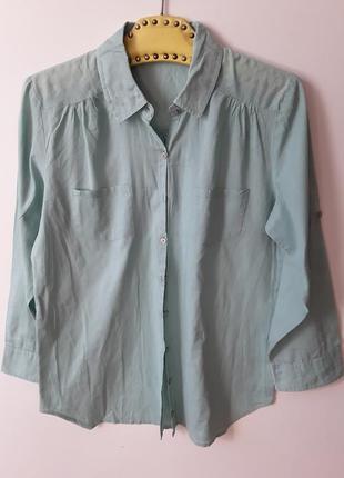 Рубашка батистовая  мятного цвета