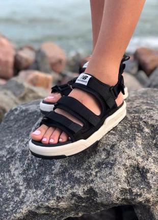 Женские босоножки new balance sandals ◈ сандалии черного цвета ◈