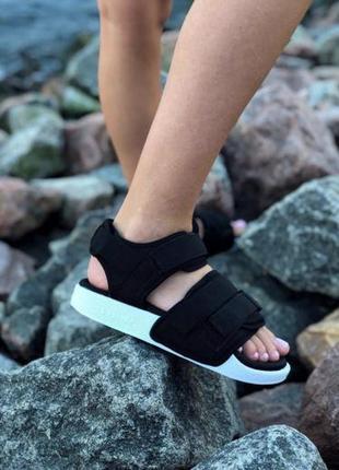 Женские босоножки adidas adilette sandal ◈ сандалии черного цвета