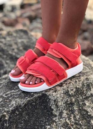 Женские босоножки adidas adilette sandal ◈ сандалии розового...
