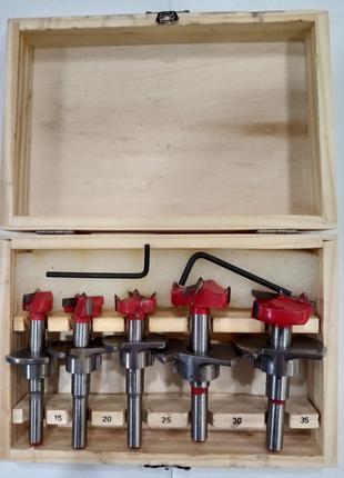 Набор фрез Форстнера с ограничителем глубины(15 мм,20 мм,25 мм,30