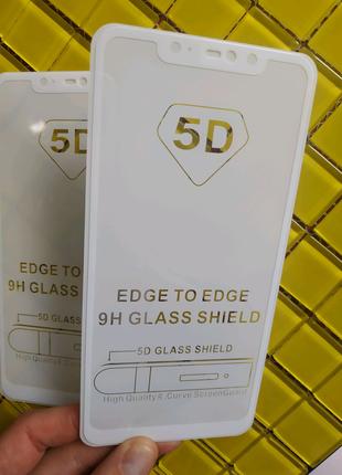 Акція! Захисне скло защиное стекло біле Xiaomi Redmi Note 6