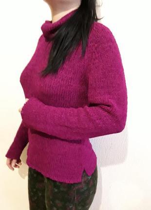 Шерстяной свитер  с воротом от next 12- 16 раз