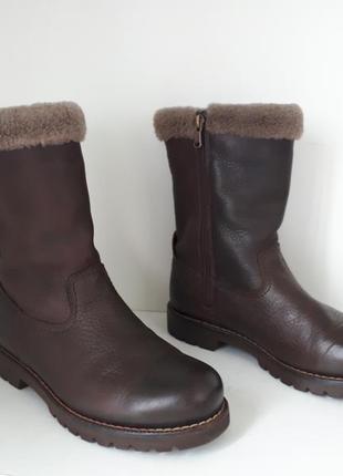 Кожаные зимние сапоги с натуральным мехом panama jack