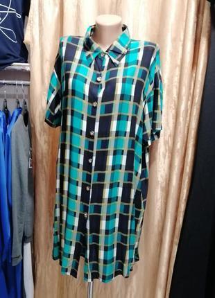 Платье рубашка из натуральной ткани штапель
