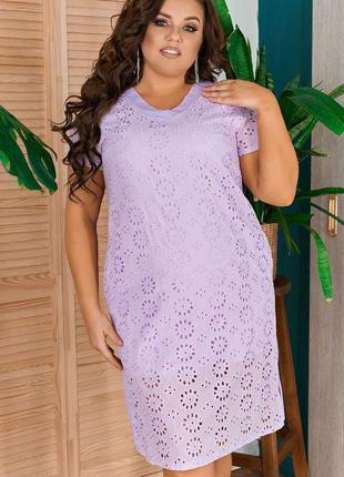Нежное летнее платье свободного кроя большие размеры