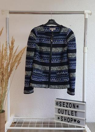 Твидовый жакет,пиджак на молнии