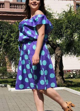 Яркое летнее платье свободного кроя большие размеры