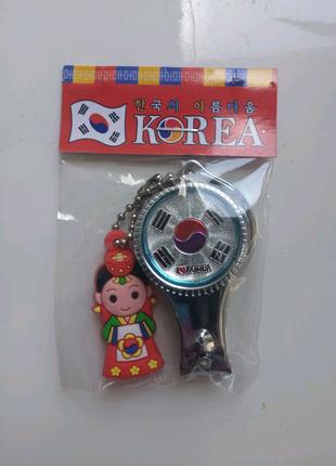 Откривачка, кусачки для ногтей, сувенир с Кореи
