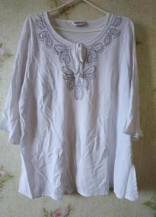 Женская летняя рубашка блузка большого размера bonmarche