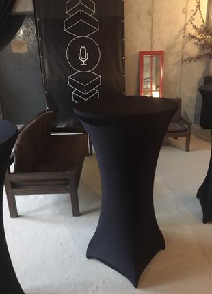 Аренда барных высоких столов, прокат коктейльных столиков D 60 см