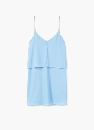 Новое голубое платье mango очень красивого нежного небесного ц...