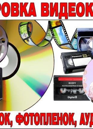 Качественная оцифровка видеокассет, фотопленок, кинопленок 8-16мм