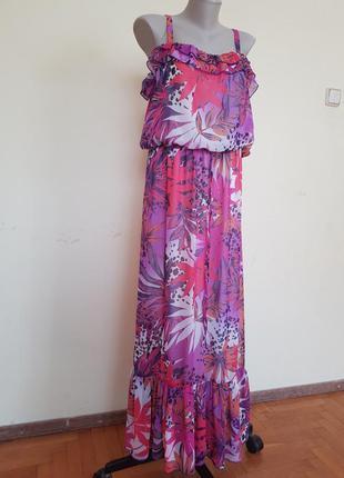 Легкое летнее длинное платье