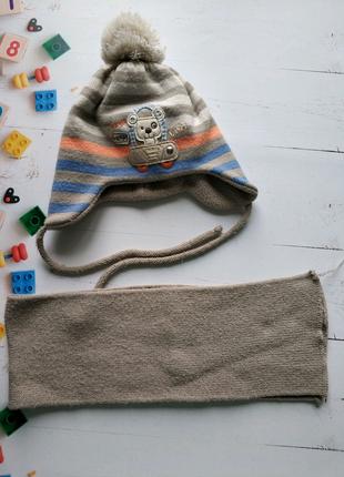 Комплект шапка/шарф на флисе