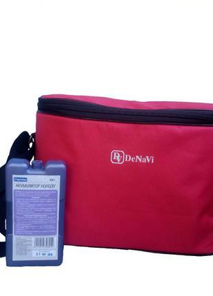 Термосумка 12 л, сумка-холодильник с аккумулятором холода в компл