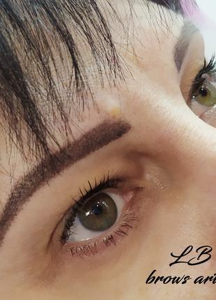 Перманентный макияж бровей (татуаж)