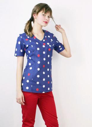 Блуза медицинская или костюм с принтом