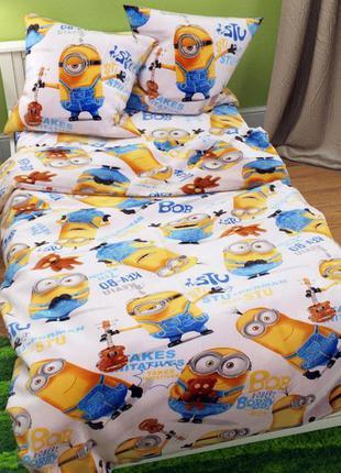 Комплект постельного белья миньоны . полуторный, двуспальный