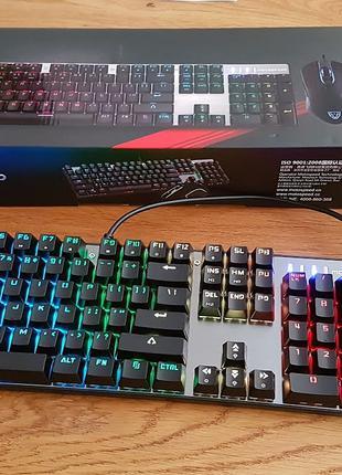 Механическая клавиатура и мышь Motospeed CK888 комплект
