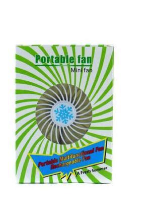 Портативный вентилятор USB mini fan XSFS-01 с аккумулятором 18650