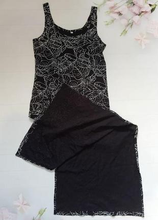 Длинное платье майка макси в пол сарафан с разрезами хлопок хл...