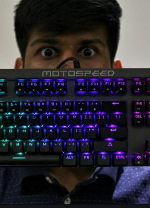 Клавиатура проводная механика MOTOSPEED CK103 для игр, геймерская