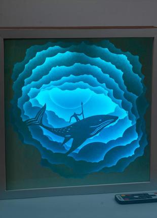 3d картина shadowbox, ночник, картина, светильник, 3d ночник, ...