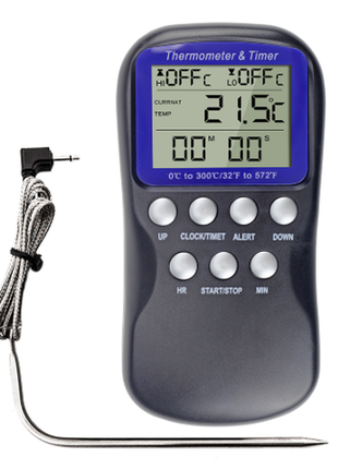 термометр, градусник с звуковым сигналом С делением от 0,1 градус
