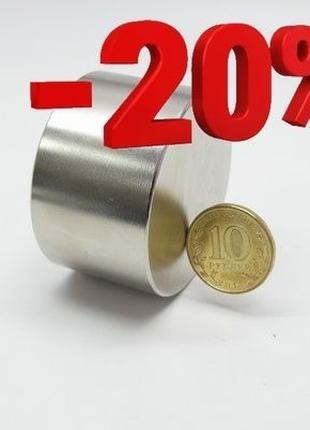 №❶ НЕОДИМОВЫЙ МАГНИТ 45х30 ⨀ аналог 55х25 100кг 100% Польша N4...