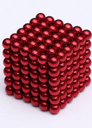НЕОкуб Ꙭ КРАСНЫЙ Ꙭ Neocube 5мм 216шт МАГНИТНЫЕ шарики + ПОДАРОК