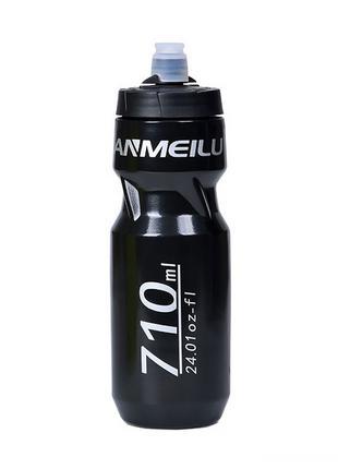 Велофляга Anmeilu 710 мл чёрная бутылка для велосипеда фляга