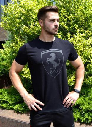 Мужская футболка puma ferrari черная