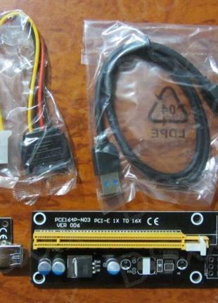 100 см райзер видеокарты Pci-e 1x 16x V6 Usb 3.0 удлинитель Riser