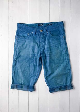 Стильные мужские синие шорты / бриджи на лето от известного бр...