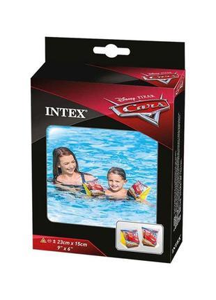 Нарукавники Делюкс Intex 56652 Тачки, 23х15см, 3-6 лет