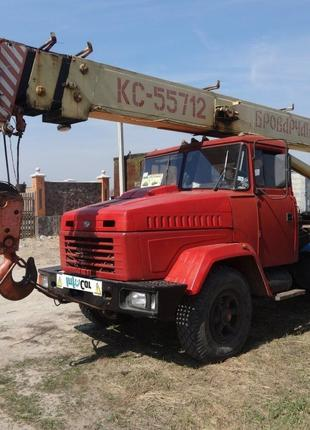 Продается Автокран Броварчанец КС-55712 на базе КРАЗ 250