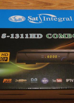 Супутниковий+Т2 ресивер Sat-Integral S-1311 HD COMBO +IPTV+YuTube
