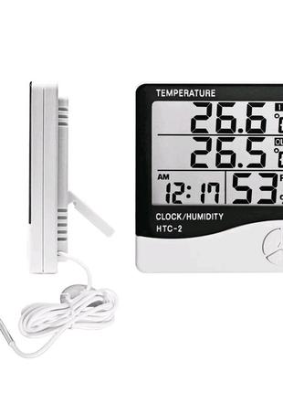 Термометр / часы / метеостанция HTC-2 + выносной датчик