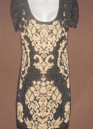 Платье женское чёрное с рюлексом, летнее, мини. Шикарное. Дешево.